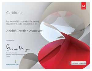 Cursos Adobe y Certificado
